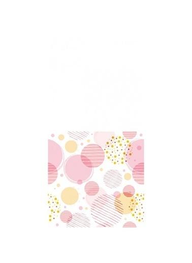 Artikel Pembe Daireler Desenli Dekoratif Çift Taraflı Yastık Kırlent Kılıfı 45x45 cm Renkli